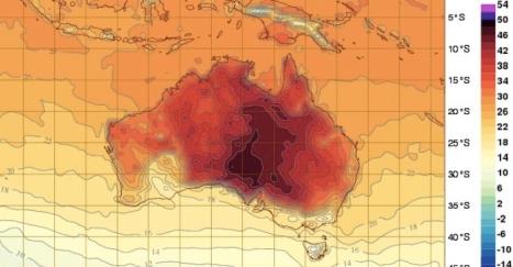 Hetebølgen i Australia 2013/2014 er ekstrem.